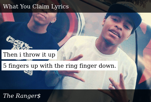 Then I Throw It Up 5 Fingers Up With the Ring Finger Down