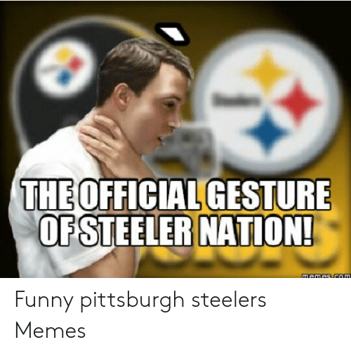 Theofficial Gesture Ofsteeler Nation Funny Pittsburgh Steelers Memes Funny Meme On Me Me