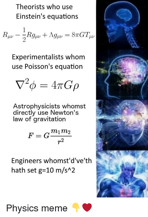 Theorists Who Use Einstein's Equations Experimentalists Whom
