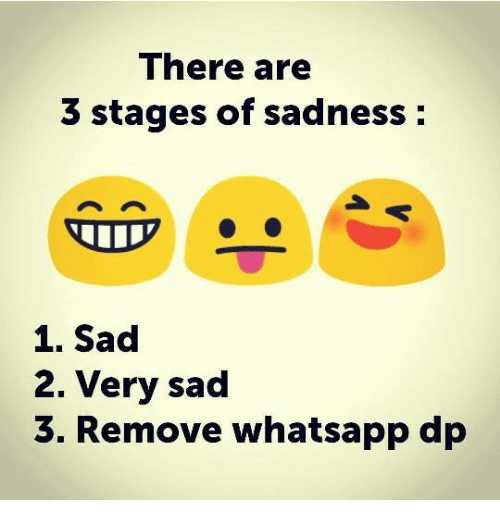 Funny Memes For Whatsapp Dp In : There are stages of sadness very sad remove whatsapp