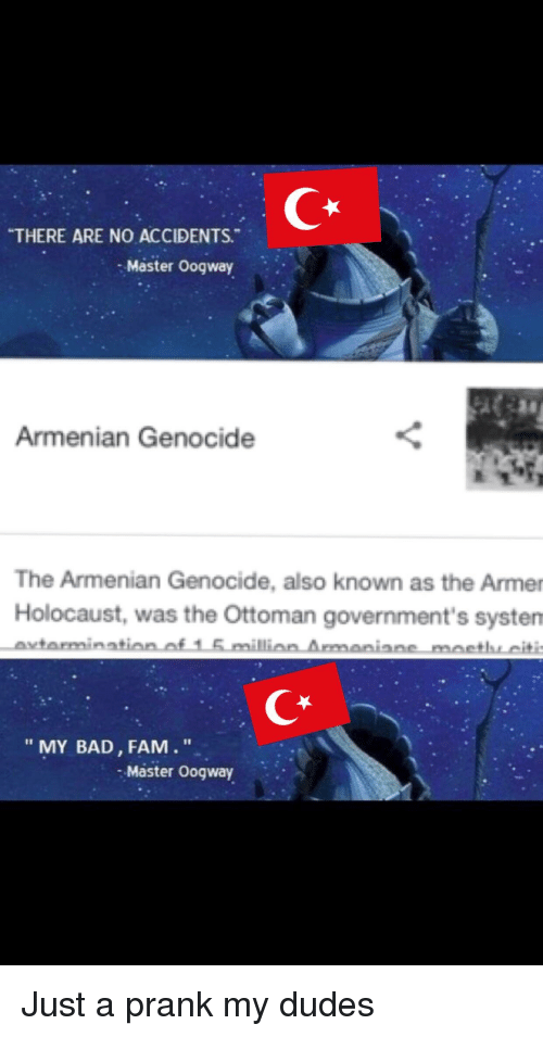 There Are No Accidents Master Oogway Armenian Genocide The