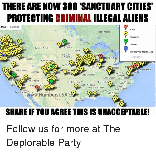 There Are Now 300 Sanctuary Cities Protecting Criminal - Map-of-us-sanctuary-cities