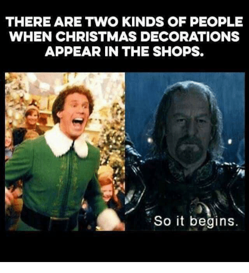 christmas memes and there are two kinds of people when christmas decorations