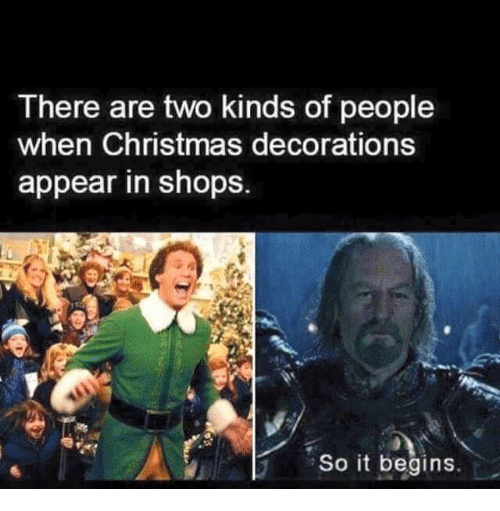 christmas memes and shopping there are two kinds of people when christmas decorations