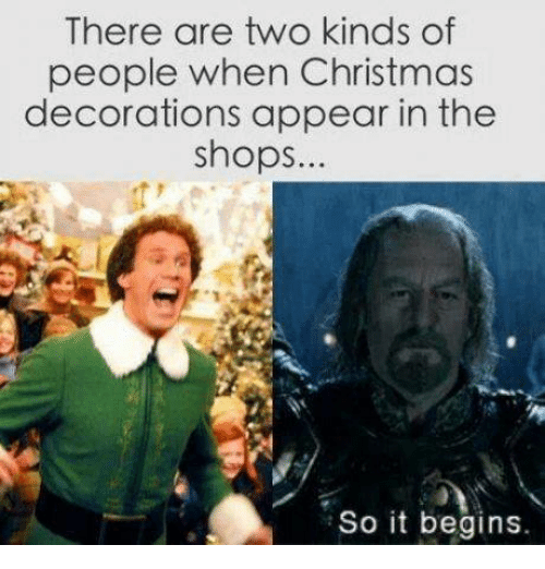 Christmas, Mexican Word of the Day, and Decoration: There are two kinds of  people when Christmas  decorations appear in the  shops  So it begins