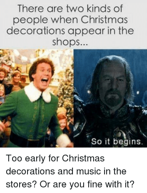 Early Christmas Decoration Meme