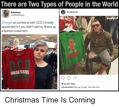 christmas fashion and pussy there are two types of people in the world