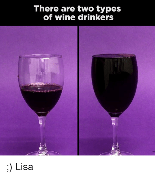Memes, Wine, and 🤖: There are two types  of wine drinkers ;) Lisa