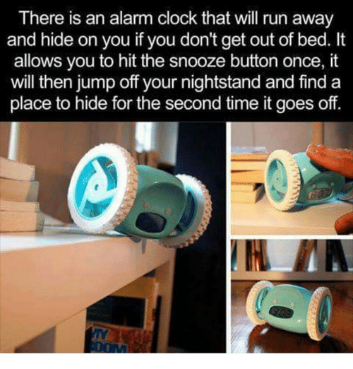 Clock, Memes, And Run: There Is An Alarm Clock That Will Run Away