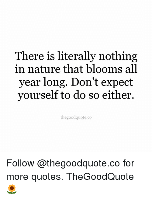 there is literally nothing in nature that blooms all year long don