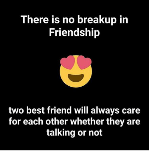 There Is No Breakup In Friendship Two Best Friend Will Always Care