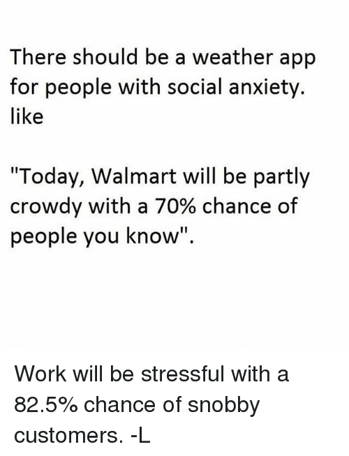 There Should Be a Weather App for People With Social Anxiety