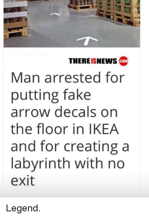 Thereisnews Cam Man Arrested For Putting Fake Arrow Decals On The