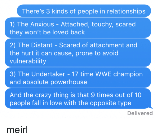 three kinds of relationships