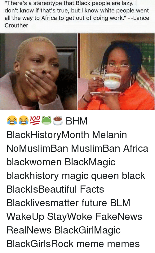 Facts about black people