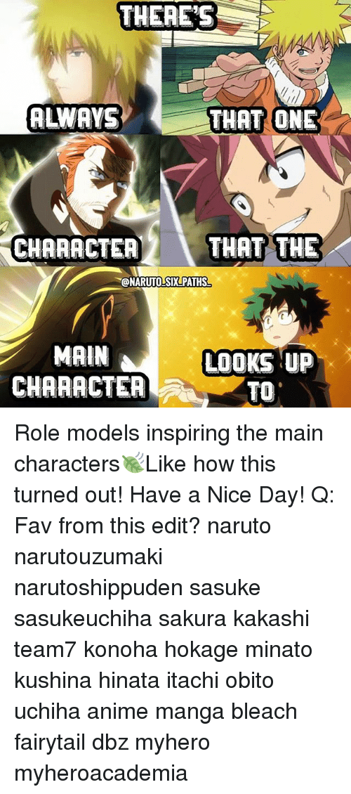 there s always that one character that the main character looks up