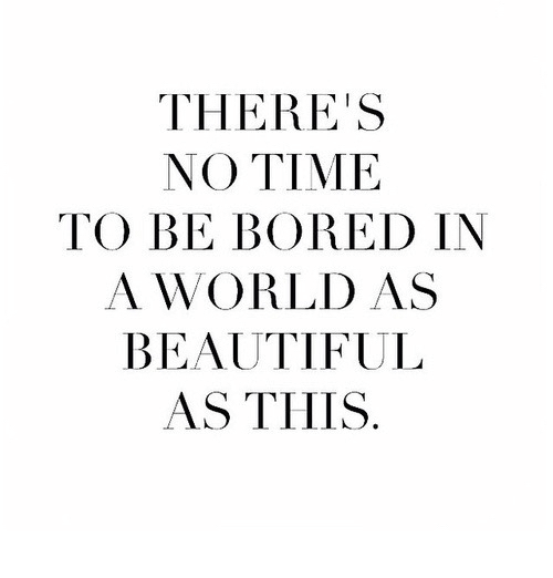 Beautiful, Bored, and Time: THERE'S  NO TIME  TO BE BORED IN  A WORLD AS  BEAUTIFUL  AS THIS