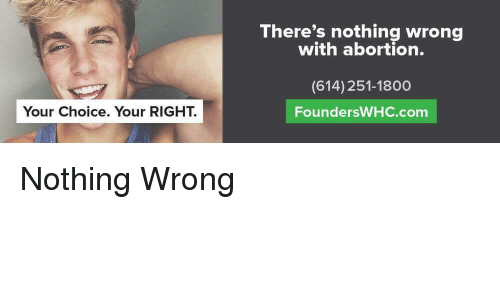 abortion wrong choice Comprehensive and meticulously documented facts about abortion technically correct and wrong at the very pro-choice i hate the concept of abortion.