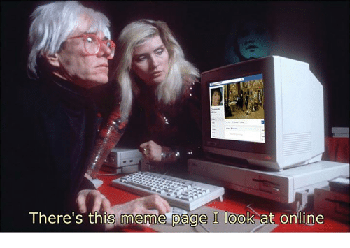 Meme, Classical Art, and Page: There's this meme page I look at online