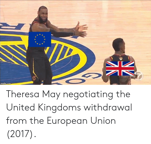 United, United Kingdom, and European Union: Theresa May negotiating the United Kingdoms withdrawal from the European Union (2017).