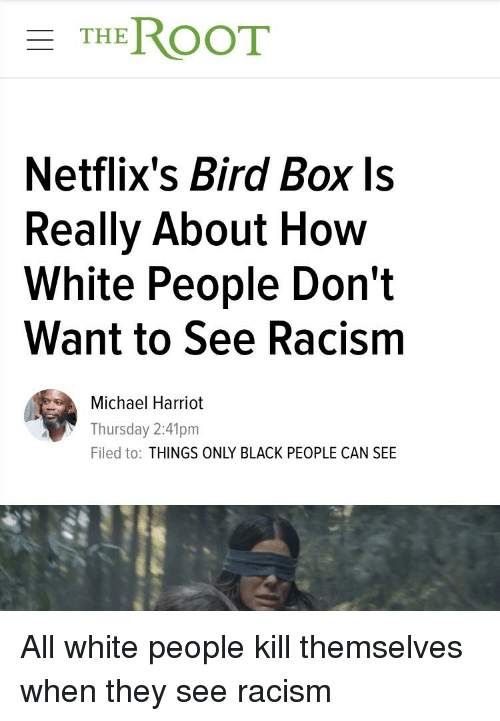 THEROOT Netflix's Bird Box Ls Really About How White People