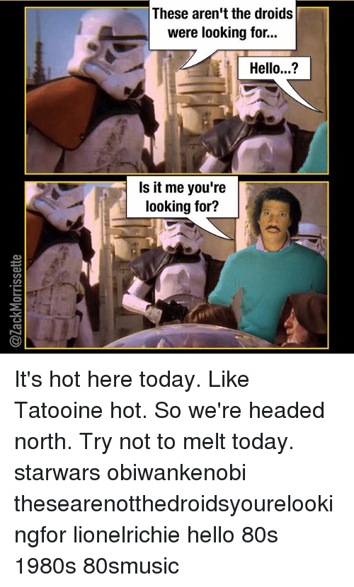 these arent the droids were looking for hello is it 24948856 ✅ 25 best memes about these arent the droids were looking for