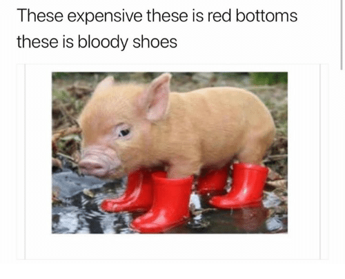These Expensive These Is Red Bottoms These Is Bloody Shoes
