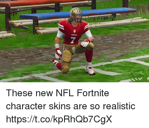 Football, Nfl, and Sports: These new NFL Fortnite character skins are so realistic https://t.co/kpRhQb7CgX