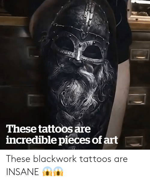 Tattoos, Art, and Incredible: These tattoos are  incredible pieces of art These blackwork tattoos are INSANE 😱😱