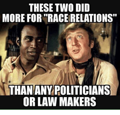 """Memes, Politicians, and 🤖: THESE TWO DID  MORE FOR """"RACEIRELATIONS  THAN ANY POLITICIANS  OR LAW MAKERS"""