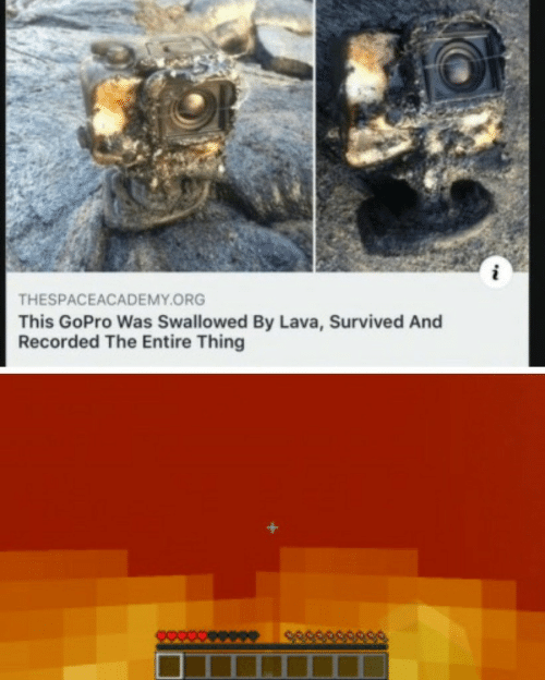 GoPro, Lava, and Org: THESPACEACADEMY.ORG  This GoPro Was Swallowed By Lava, Survived And  Recorded The Entire Thing