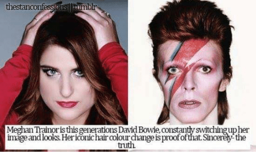 Image result for meghan trainor confession bowie