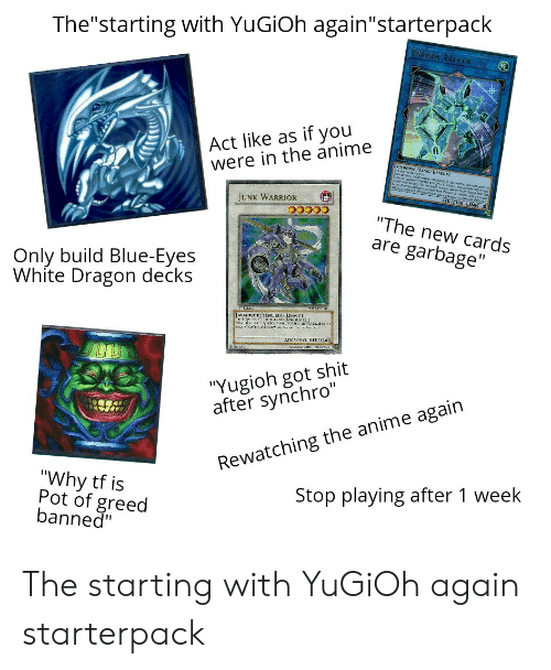 Thestarting With YuGiOh Againstarterpack Act Like as if You