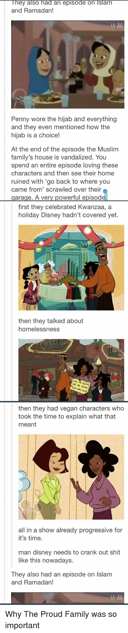 Blackpeopletwitter disney and family they also had an episode on slam and ramadan