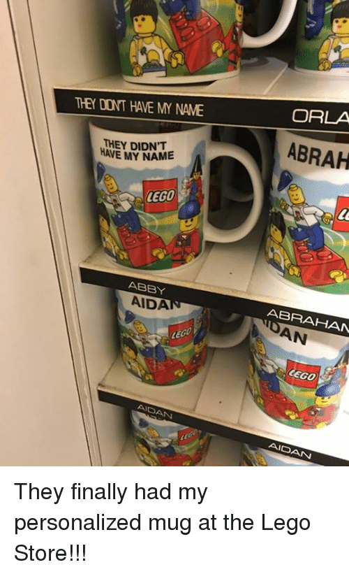THEY DONT HAVE MY NAME THEY DIDN'T HAVE MY NAME LEGO ABBY AIDAT ...