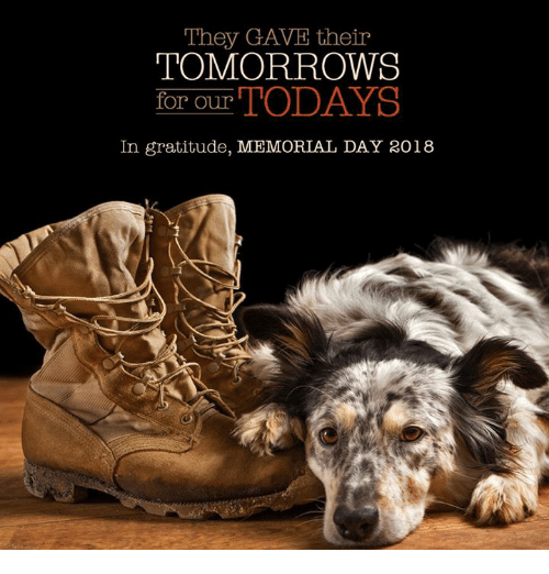 Memorial Day 2018 Quotes: They GAVE Their TOMORROWS For Our In Gratitude MEMORIAL