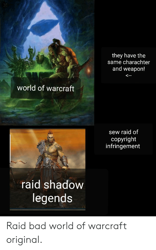 They Have the Same Charachter and Weapon! World of Warcraft