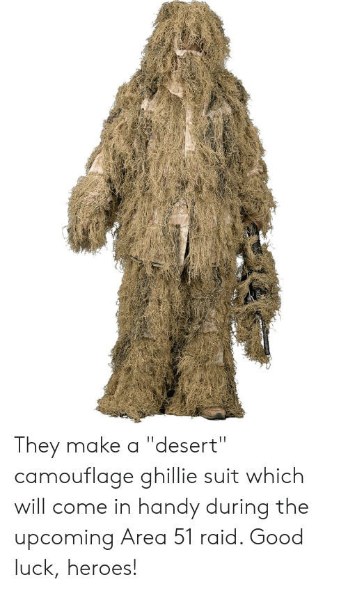They Make a Desert Camouflage Ghillie Suit Which Will Come