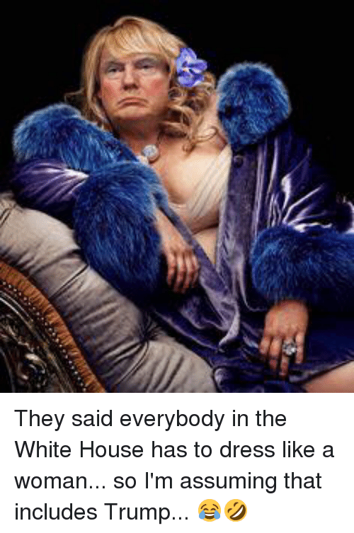 they said everybody in the white house has to dress 13667023 ✅ 25 best memes about dressed like a woman dressed like a