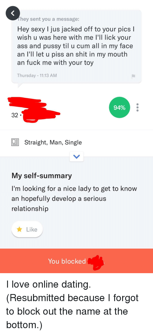 Ass, Cum, and Dating: They sent you a message: Hey sexy l