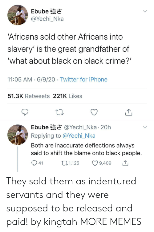 Dank, Memes, and Target: They sold them as indentured servants and they were supposed to be released and paid! by kingtah MORE MEMES