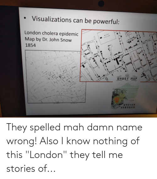 "London, Name, and They: They spelled mah damn name wrong! Also I know nothing of this ""London"" they tell me stories of..."