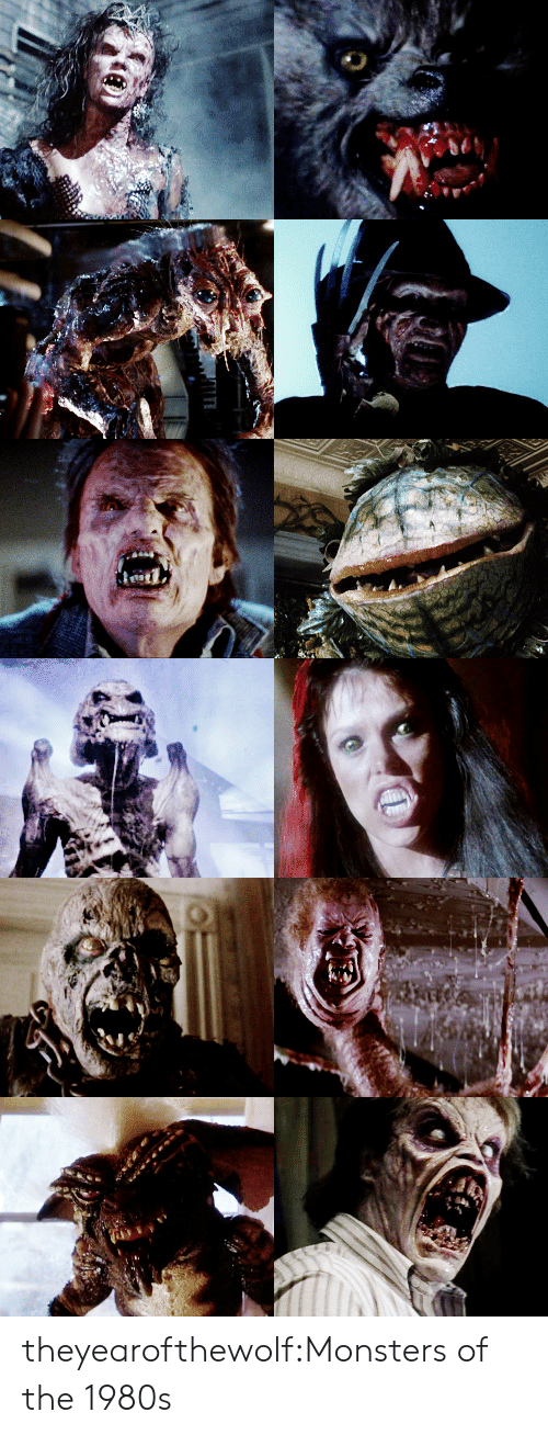 Tumblr, Blog, and Http: theyearofthewolf:Monsters of the 1980s