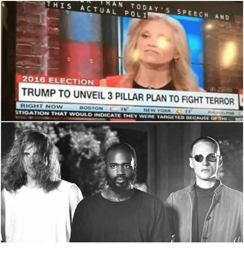 New York, Target, and Boston: THI S ACTUAL POLI  e 4-HAN TODAY'S SPEECH AND  2016 ELECTION  TRUMP TO UNVEIL 3 PILLAR PLAN TO FIGHT TERROR(  RIGHT NOW  BOSTON  NEW YORK 7で  STIGATION THAT WOULD INDICATE THEY WERE TARGETED BECAUSE Nr