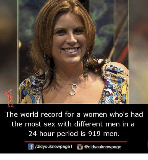 Who holds the record for the most sex