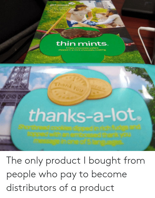 Thin Mints Crispy Chocolate Wafers Dipped in a Mint Ch Colaty