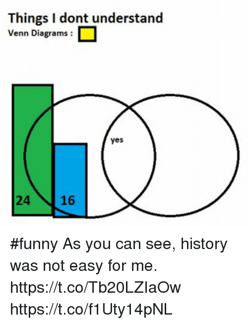 Things I Dont Understand Venn Diagrams Yes 24 16 Funny As You Can