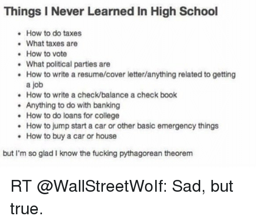 Things I Never Learned in High School How to Do Taxes What Taxes