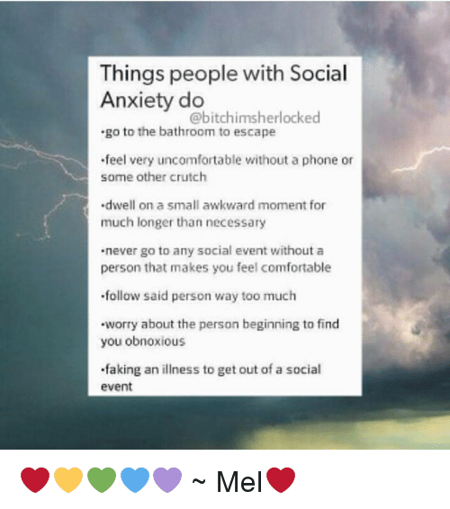 20 things when dating someone with anxiety So if someone gives  if things look too  i can definitely empathize with people who feel the realization anxiety i've been giving online dating a try and have.