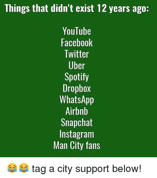 Things That Didn't Exist 12 Years Ago YouTube Facebook